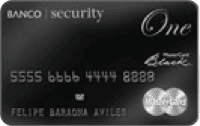 Logo Banco Security Mastercard Black One