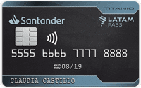 Logo Banco Santander Titanio Santander LATAM pass