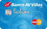 Logo Banco AV Villas Mastercard Facilísima