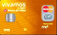 Logo Banco AV Villas Vivamos el Tiempo Gold