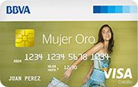 Logo Banco BBVA Mujer Oro
