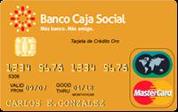Logo Banco Caja Social Mastercard Oro