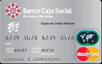 Logo Banco Caja Social Mastercard Platinum