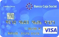 Logo Banco Caja Social Visa Clásica