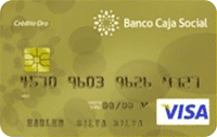 Logo Banco Caja Social Visa Oro