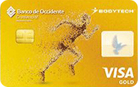 Logo Banco de Occidente Bodytech Gold