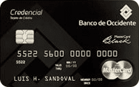 Logo Banco de Occidente Mastercard Black