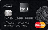 Logo Banco Itaú Mastercard Black