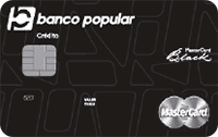 Logo Banco Popular Mastercard Black