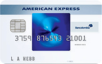 Logo Bancolombia American Express Blue