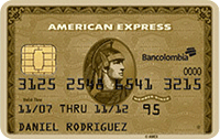 Logo Bancolombia American Express Gold