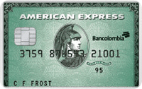 Logo Bancolombia American Express Green