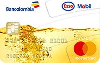 Logo Bancolombia Esso Mobil Oro