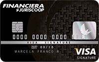 Logo Financiera Juriscoop Visa Signature